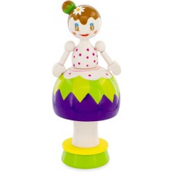 MUSICAL FIGURINE: GREEN DOLL
