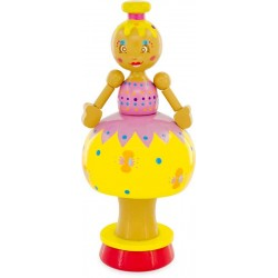 MUSICAL FIGURINE: YELLOW DOLL
