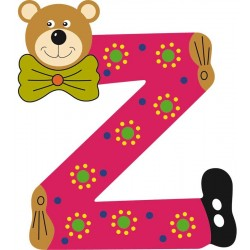 BEAR-CUB LETTER Z (set of 5)