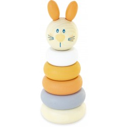 WOODEN STACKING TOY: BUNNY