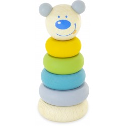 WOODEN STACKING TOY: TEDDY
