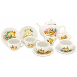 PORCELAIN TEA SET IN CASE:...