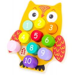 PUZZLE: OWL BLOCKS (10 pcs)