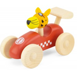 WOODEN RACING CAR: RED