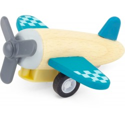 WOODEN PULL BACK PLANE (set...