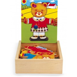 DRESS-UP PUZZLE BEAR-CUB GIRL