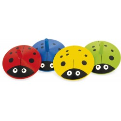 WOODEN TOP: LADYBUG (set of...